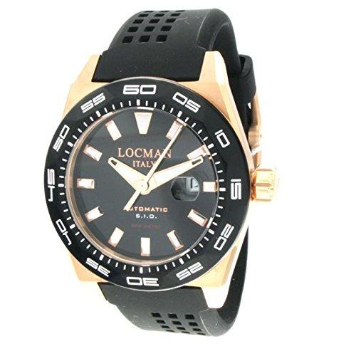 Reloj Locman Locman 0215V5-RKBK5NS2K. Automático Acero Chapado en oro rosa quandrante negro correa goma