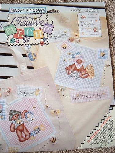 BEARS & BEES - CREATIVE PATCHES NO-SEW APPLIQUE FROM DAISY KINGDOM - 19 PATCHES