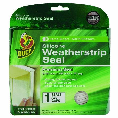 Duck Brand 1299528 Premium Silicone Weatherstrip Seal, .375-Inch x .25-Inch x 17-Feet