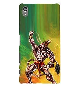 printtech Lord God Hanuman Back Case Cover for Sony Xperia Z5 Premium Dual