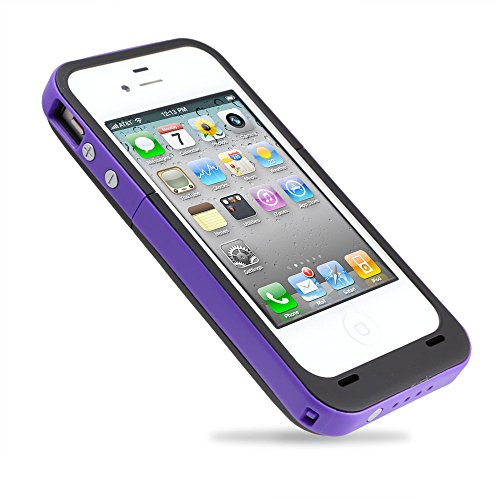 Citra 2000Mah Rechargeable External Battery Case Power Bank For Iphone 4 4S (Purple)