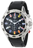 Nautica Men's N16553G NST Chronograph Flag Black Dial Watch by Nautica
