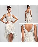 COOLER-Robe Femme-Sans manche-épaules avec bretelles-dentelle-pour soirée/mariage-la taille et la couleur sur mesure