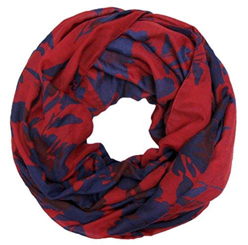 accessu-Echarpe-Foulard-pour-Femme-Floral-Pattern-in-bluered