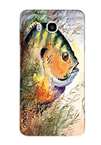 Omnam Fish Closeup Colorful Printed Designer Back Cover Case For Samsung Galalxy J5 (2016)