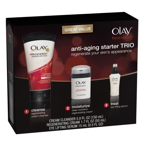 vitamin a sunscreen:Olay Regenerist Skin Care Starter Trio Pack