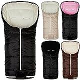 Baby Winter Footmuff Footmuff for Carrycot Baby Car Seat Basic 6 point belt slots BEIGE CREAM