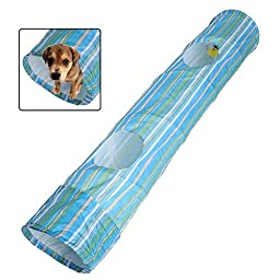 Petty Love House Cat Puppy Collapsible Exercise Fun Dog Obedience Agility Training Tunnel Striped Cave Play Toys
