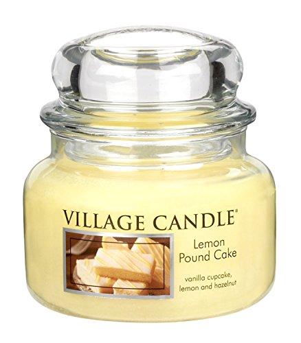 Village Candle Petite bougie parfumée en pot Cake au citron Jusqu'à 55 heures de combustion 11 x 10 cm 701 g