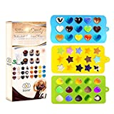 Bigear Candy Molds & Ice Cube Trays - Hearts, Stars & Shells - Silicone Chocolate Mold - Fun, Toy Kids Set - Use for Making Homemade Cake, Candy, Chocolate, Gummy, Ice, Crayons, Jelly, and More