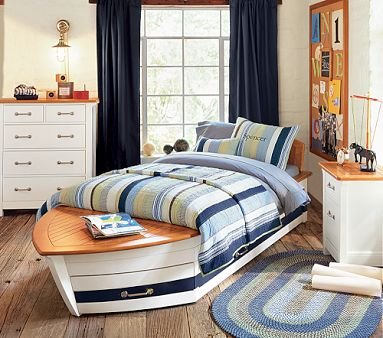 Buy Low Price Pottery Barn Kids Speedboat Bedroom Set (B001HCQ75C)