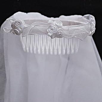 Us Angels Girls Communion White Floral Headpiece