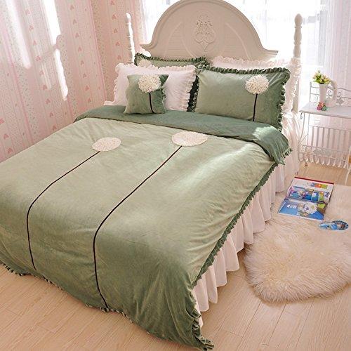 Dandelion Green Duvet Cover Set Princess Bedding Girls Bedding Women Bedding Gift Idea, Queen Size