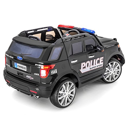 sportrax ford explorer style police kids ride on car battery powered remote control wfree mp3 player black