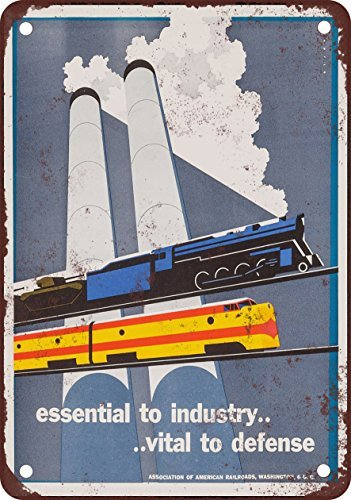 1951-association-of-american-railroads-vintage-look-reproduction-metal-tin-sign-8x12-inches