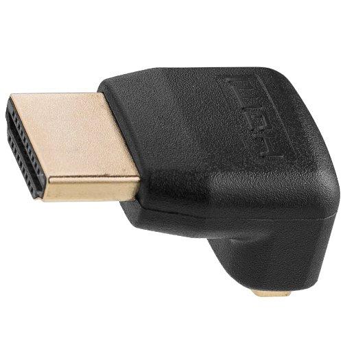 Twisted Veins 1,8 m Cable HDMI de Alta Velocidad (Paquete de 2) + Derecho Ángulo Adaptador y Tiras de Velcro...