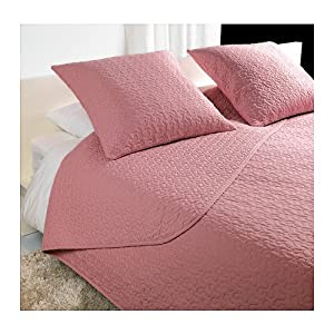 IKEA ALINA - Bedspread and 2 cushion covers, pink - 260x280/65x65 cm