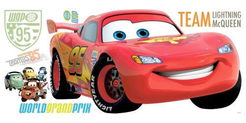 RoomMates RMK1582GM Disney Pixar Cars 2 Lightning McQueen Peel & Stick Giant Wall Decal
