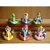 マリオカート ミニミニカート コレクション2全6種 Wii KART 全6種 1 ヨッシー2 キノピオ3 ピーチ4 デイジー