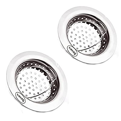 Daixers 2pcs Kitchen Garbage V Shaped Portable Sink Strainer Heavy-Duty Stainless Steel (Top Diameter 4.3in)