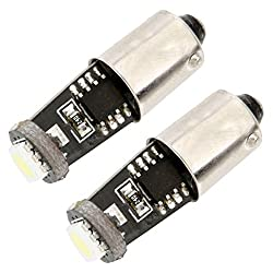 2pcs BA9S 5050 1 LED Car Light Bulbs