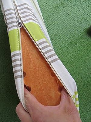 """BIO 8 cm Doppler Luxus 2-Sitzer Bankauflage """"PURE 1376"""" mit Reißverschluß, grün taupe gestreift von Doppler bei Gartenmöbel von Du und Dein Garten"""
