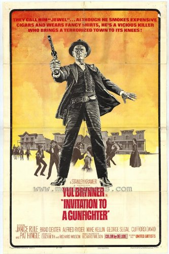 Invitation to a Gunfighter Vintage Film Poster Starring Yul Brynner