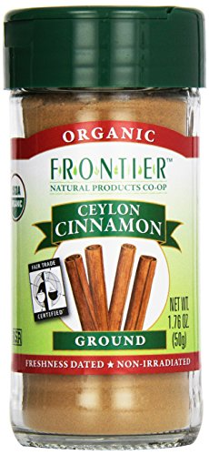 Frontier Natural Products Cinnamon, Og, Grnd Ceyln, Ft, 1.76-Ounce front-603224