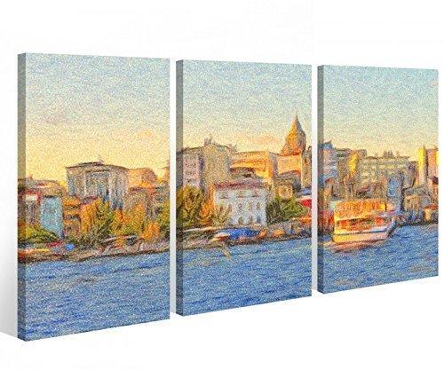 lienzo-3-piezas-estanbul-turquia-ciudad-paisaje-urbano-barco-cuadro-mural-aceite-9a559-acabado-de-ma