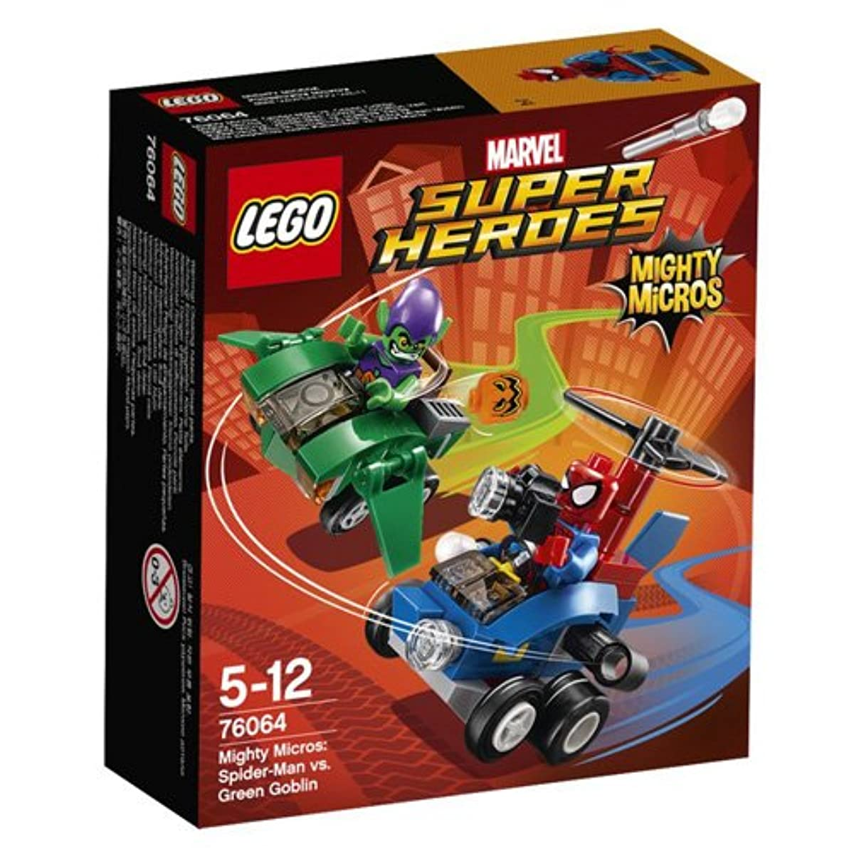 [해외] 레고 (LEGO) 슈퍼히어로즈 마이 T 마이크로 포스:스파이더맨 VS 그린고블린 76064-76064 (2016-03-04)