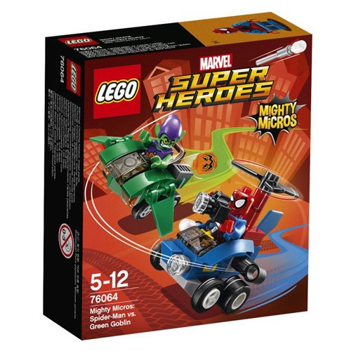 LEGO 76064 - Figurine Super Heroes Mighty Micros Spiderman Vs Goblin