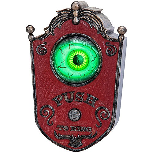 Light Up Talking Eyeball Doorbell - Haunted House Halloween Party Prop Creepy Ornaments (Haunted House Ideas For Halloween Party)