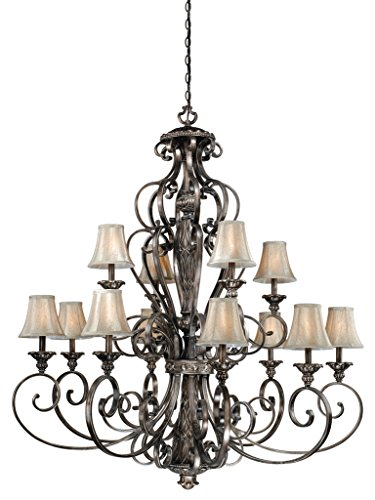 Bellagio 12L Chandelier Parisian Bronze