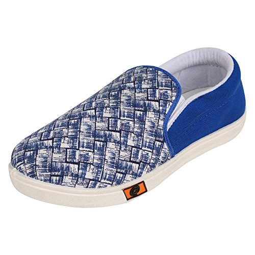 Bersache Men's Blue Canvas Loafer (10 UK)  available at amazon for Rs.198