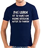 Touchlines Herren T-Shirt Das Leben ist zu kurz... SLIMFIT, navy, XL, SF117