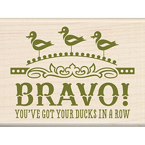 "Inkadinkado Ducks in A Row Mounted Rubber Stamp, 2.25"" by 3"""
