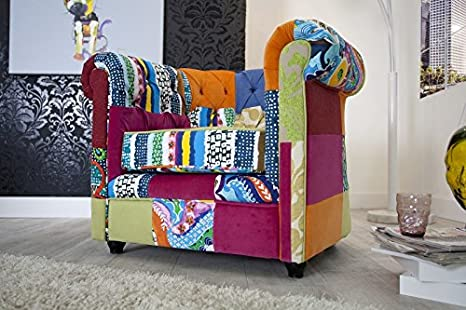 DuNord Design Sessel CHESTERFIELD Patchwork bunt