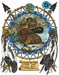 Beaver Totem Animals, Frogs Return Moon Art Print (Taurus) Colored Pencil Drawings of Animal Totems, By California Artist - Ben Morales