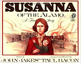 Read Susannah of the Alamo before your Staycation in San Antonio tourism