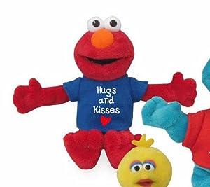 Gund Sesame Street: Hugs & Kisses Beanbag: ELMO Plush Soft Toy 18cm approx 320071