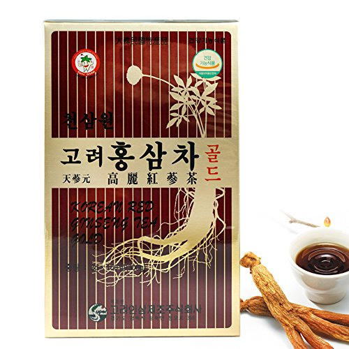 ROM AMERICA Korean Red Ginseng Tea Extract, 3g X 100 Count [300g] 고려 홍삼차 골드 (Red Ginseng Extract Tea compare prices)