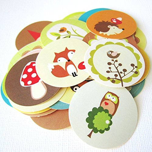 woodland-animals-and-gnome-stickers-label-party-gift-wrapping-and-envelope-seal-set-of-50