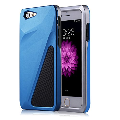 iPhone 6 Plus/6S Plus Case,SEENPIN Shockproof Rugged Extreme Protection Soft TPU & Hard PC Bumper Silicone Plastic Hybrid Case Cover for iPhone 6 Plus 6S Plus 5.5 Inch-Blue (Full Blown Extreme compare prices)
