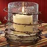Barbed Wire Pillar Candle Holder