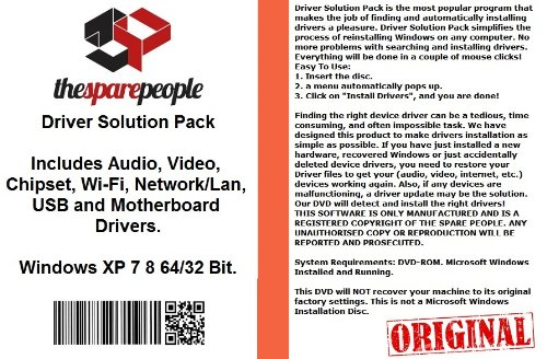 Driver Explication Pack For Acer Aspire Idea510 Desktop PC Series Installs Fix Audio Video Chipset Wi-Fi Network/Lan USB Motherboard Drivers- Windows XP Vista 7 8 32/64 Bit DVD Disk