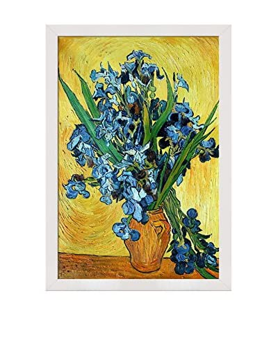 Vincent van Gogh Irises in a Vase Framed Hand-Painted Oil Reproduction