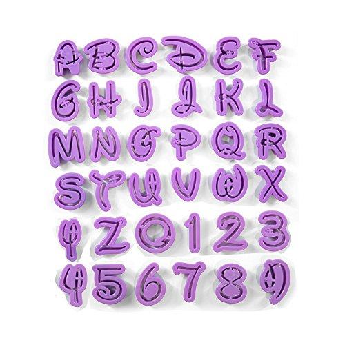Anokay SET Alfanumerico 36 Formine Taglia Biscotti a Lettere dell'Alfabeto e Numeri per Pasta di Zucchero Torte Sugarcraft e Marzapane l' Argilla Das Gesso Pasta di Gomma ect