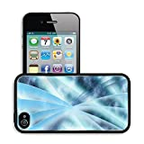 Luxlady Premium Apple iPhone 4 iPhone 4S Aluminium Snap Case Digital abstract shapes glowing in blue tones IMAGE 19863052