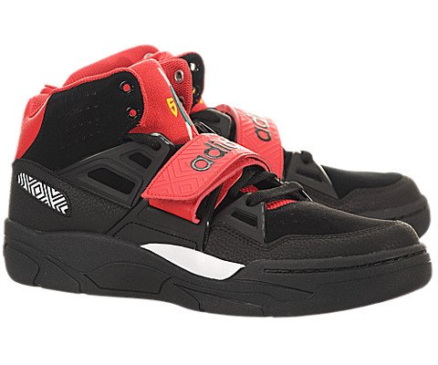 Adidas Mutombo TR Block – Black / Black-Red, 10 D US