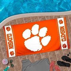 Buy NCAA Clemson Tigers 30 x 60 Logo Beach Towel - Orange by WinCraft